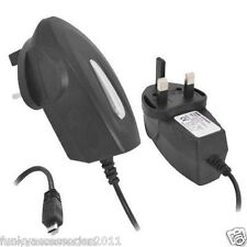 CE RoHS Approved Micro USB 3 Pin Mains Charger Black 1000mA