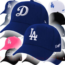 Los Angeles Dodgers Cap Velcro MLB LA Logo Hat Embroidered On Field Game Basic