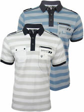Mens Dissident Polo T-Shirt 'Cosmos' Single Stripe Jersey Short Sleeved