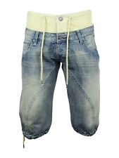 Mens Voi Jeans Combat/ Cargo Denim Shorts 'Hawk' - Blue