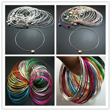 HOT bright Wholesale Lots Silver Mixed Colors Lot ring Aluminium Bracelets Gift
