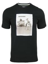 Mens Lambretta Mod Retro Scooter Dog Photo Print T-Shirt - Crew Neck