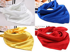 New Girls Women's Silk Spinning Mini Scarves Smooth Shawl Elegant Neckerchief