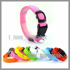 LED Glow Collar Dog Puppy Pet Tag Flashing Light Safety Nylon leash harness