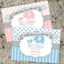 *Little Peanut* Baby Elephant Themed Shower Invitations - Boy or Girl