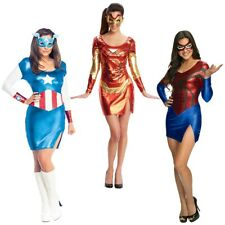 Superhero Costumes for Women Adult Group Ideas Sexy Female Halloween Fancy Dress