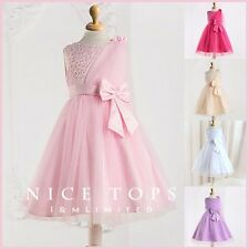 P8910 Pinks Princess Wedding Dance Party Flower Girls Dresses SZ AGE 1 to 12Year