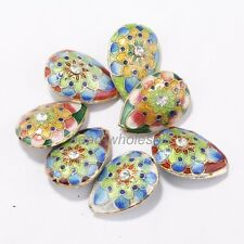 Colorful Wholesale New Great Equisite Teardrop Cloisonne Loose Beads