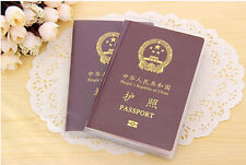 3pcs Frosted/Transparent Passport Cover Holder Case Organizer ID Card Protector
