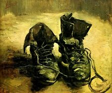A PAIR OF SHOES OLD BOOTS 1886 IMPRESSIONIST PAINTING BY VINCENT VAN GOGH REPRO