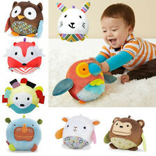 2014New Baby Kid's Animal Mini Plush Soft Cloth Ball Puzzle Toys Bell Cloth Ball