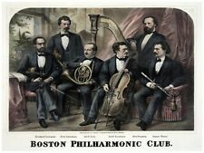 5969.Botson Philharmonic club.six players posing.POSTER.Home Office art
