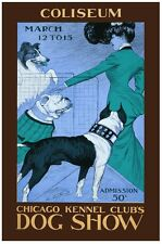 6269.Coliseum.Chicago kennel clubs.dog show.pitbull.POSTER.Home Office art