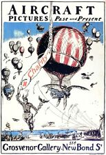 6378.Aircraft pictures past and preent.hot air balloon.POSTER.Home Office art