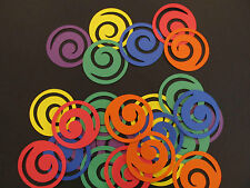 30 Spiral Circle Diecuts,Embellishments,Choice of Cardstock Colours,Paper Crafts