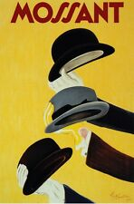 6452.Mossant.Men waving different styles of hats.POSTER.art wall decor