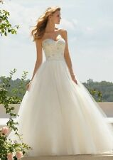 2014 New Empire A Line Lace Bridal Wedding Dresses Gown US Size 4 6 8 10 12 14+