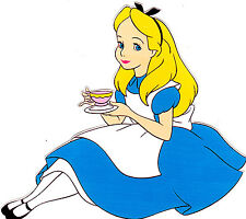 """5-8"""" ALICE IN  WONDERLAND  WALL SAFE STICKER CHARACTER BORDER CUT OUT"""