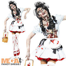 Zombie Dorothy Fancy Dress Ladies Halloween Horror Womens Adult Party Costume
