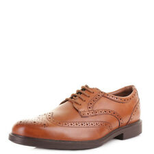 MENS CLARKS GABSON LIMIT Tan PREMIUM LEATHER BROGUES SMART FORMAL SHOES SIZE