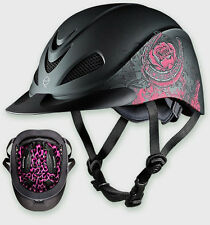 TROXEL PINK ROSE DURATEC ENGLISH AND WESTERN RIDING HORSE HELMET LOW PROFILE S M