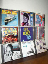 9 Assorted Jazz & Blues CDs by Various Artists