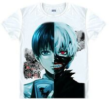 Japanese Anime tokyo ghoul Fully upgraded version White Short-sleeved T002