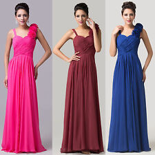 2014 Long Chiffon Women Party Evening Pleated Formal Prom Gown Bridesmaid Dress