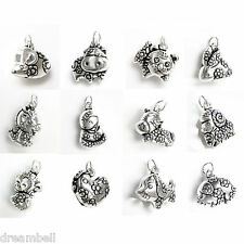Antique 925 Sterling Silver Chinese Zodiac Animal 3-D Dangle Charm Pendant