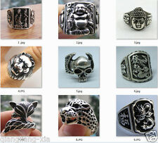 Wholesale Wonderful Tribal Tibet silver carved fashion ring 10 style