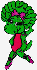 "7-10.5"" BARNEY  DINOSAUR BABY BOP  WALL STICKER GLOSSY BORDER CHARACTER CUT OUT"