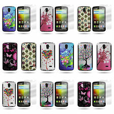 Dual Layer Design Hybrid Phone Cover Case and Screen Protector for LG Lucid 3