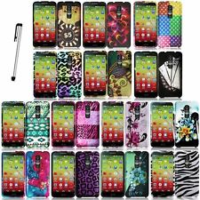 For LG G2 Mini D620 Cool Design Rubberized Case Phone Cover + Stylus