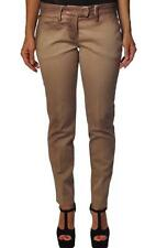 BEIGE PANTS TIGHT WOMAN LEG POCKET CYNOS a/w DONDUP 19H04