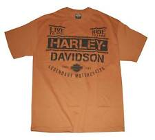 Harley-Davidson Men's Shout Short Sleeve T-Shirt Texas Orange 30293167