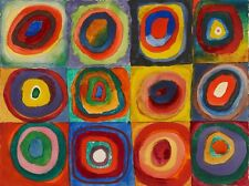 Wassily Kandinsky Squares with Concentric Circles, 1913 Print