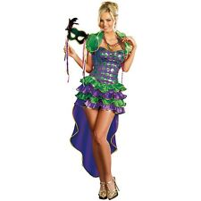 Mardi Gras Maven Costume Adult Halloween Fancy Dress