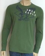American Eagle Outfitters AEO Amer Diamond Mens Green Long Sleeve T-Shirt NWT