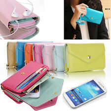 PU Leather Flip Card Wallet Purse Phone Case Cover For iPhone 4 5 Samsung S4 S3