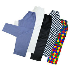 QUALITY Chef Trousers Uniforms Chef Clothing Pants Black,White,Harlequin,Chess