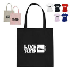 Rc Car Spares Gift Cotton Tote Bag Eat Live Breathe Sleep Rc Cars