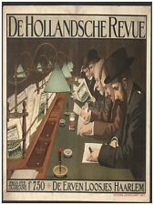 7294.De hollandsche revue.men reading at table with lamps.POSTER.art wall decor