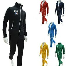 New Mens Jogging Tracksuit Sports Athletic Apparel Gym Sweat Suit M-2XL 6 Colors