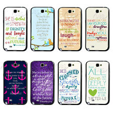 Proverbs 31:25 bible Verse Quote TPU Bumper Hard Case For Samsung Galaxy Note2 3