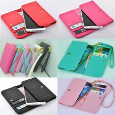 luxury Wallet wristlet Card Holder Full Cover Case For Alcatel cell phone
