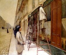 HOUSE PAINTERS WORKERS 1877 FRENCH IMPRESSIONIST PAINTING BY CAILLEBOTTE REPRO