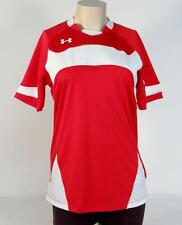 Under Armour Moisture Wicking Red & White Short Sleeve Soccer Jersey Womans NWT