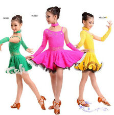 Kid's Girl's Latin Cha Cha Dancewear Dance Show Dress Dp012