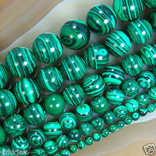 6-12mm Green Malachite Gemstone Round Loose Spacer Beads 15''