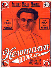 7627.Newman the great.America's master mentalist.POSTER.art wall decor